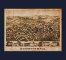 Panoramic Maps Hopkinton Mass One Piece - Short Sleeve