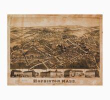 Panoramic Maps Hopkinton Mass Kids Tee