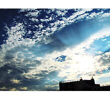 Up on the roof, New York City Photographic Print
