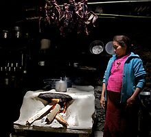 Tamang kitchen, Langtang region, Nepal by John Spies
