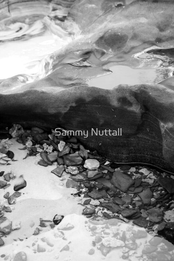Rainbow Beach Rockpool (b&w) by Sammy Nuttall