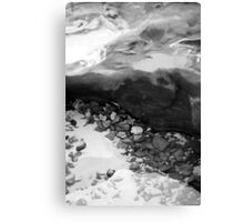 Rainbow Beach Rockpool (b&w) Canvas Print