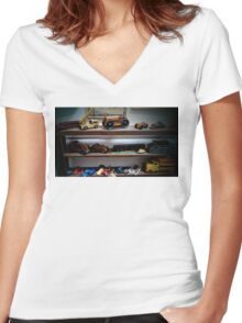 Toy Shelf - Ouray Museum Women's Fitted V-Neck T-Shirt