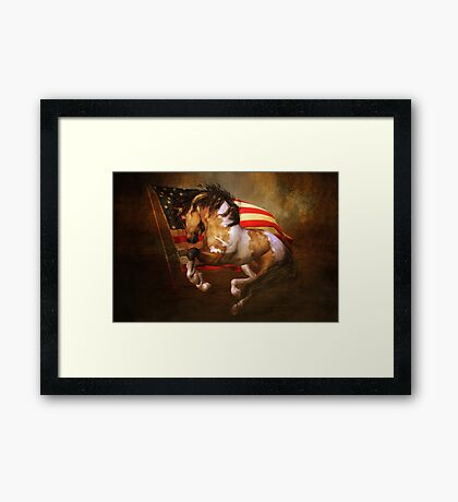 Freedom Run Framed Print