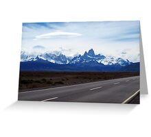 Lenticular Clouds over FitzRoy Range ,  Patagonia Greeting Card