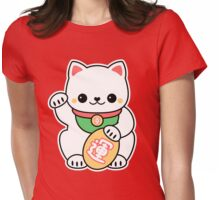 Kawaii Maneki Neko Womens Fitted T-Shirt