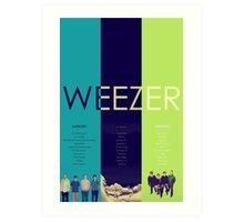 Blue To Green: Weezer's First 3 Albums Art Print