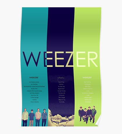 Blue To Green: Weezer's First 3 Albums Poster