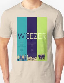 Blue To Green: Weezer's First 3 Albums T-Shirt