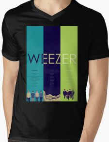 Blue To Green: Weezer's First 3 Albums Mens V-Neck T-Shirt