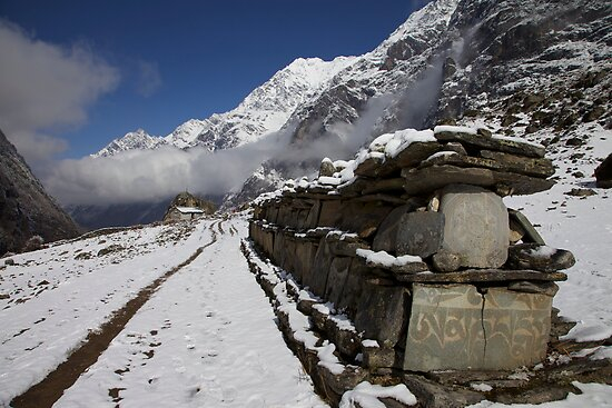 Mani wall, Nepal by John Spies
