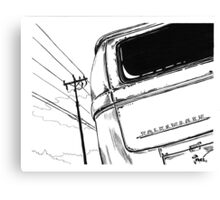Bay Bus...........from drawing that i did Canvas Print