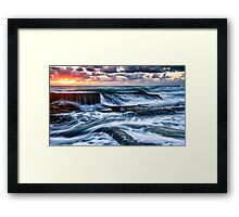Turbulent Sunrise Framed Print