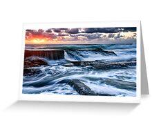 Turbulent Sunrise Greeting Card