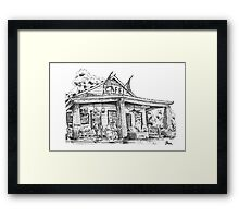 Whistle Stop cafe .......drawing  from Juliette GA Framed Print