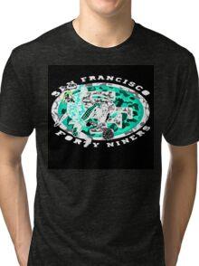 49ERS BLACK Tri-blend T-Shirt