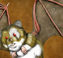 Beware the vampire hamster Sticker