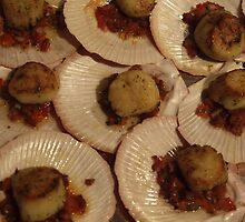 Scallops in a half shell by Tom McDonnell
