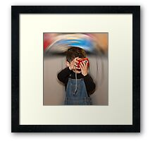 The world as we see it Framed Print