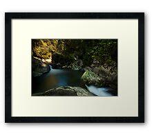 Kaiate lower pools Framed Print