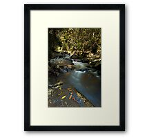 Kaiate river run drift Framed Print
