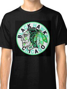 BLACKHAWKS BLACK Classic T-Shirt