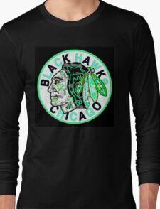 BLACKHAWKS BLACK Long Sleeve T-Shirt