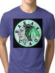 BLACKHAWKS BLACK Tri-blend T-Shirt
