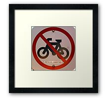 Bicycles Excepted Framed Print