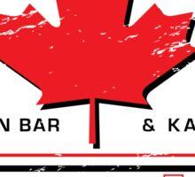 Hoser Hut Maple Leaf Sticker