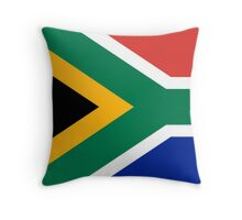 National flag of the Republic of South Africa Authentic version Throw Pillow