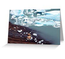 Glaciar Perito Moreno meltwater , Patagonia Argentina  Greeting Card