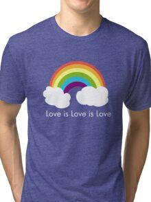 Love is Love is Love- Rainbow Tri-blend T-Shirt
