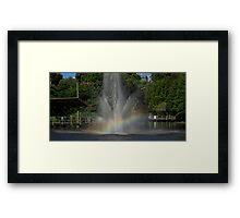 Rainbow Fountain Framed Print