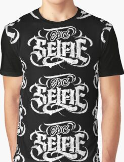 Grunge Tattoo Black Lettering 'Epic Selfie' Card + Posters - Calligraphy Graphic T-Shirt