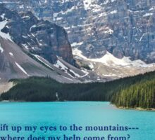 Moraine Lake Psalm 121:1,2,7 Sticker