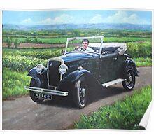 Vintage Car Austin 7 Poster