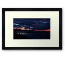 Red Sky in the morning, a Fisherman's warning.. Framed Print