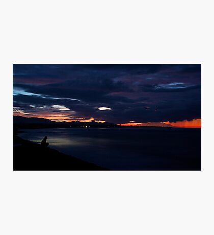 Red Sky in the morning, a Fisherman's warning.. Photographic Print