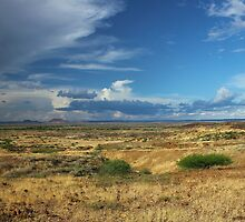 Where the sky meets the land by Karue