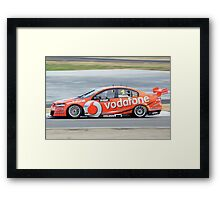 Team Vodafone - Jamie Whincup Framed Print