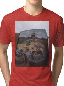 History of Chinatown Mural, Chinatown, Philadelphia, Pennsylvania  Tri-blend T-Shirt