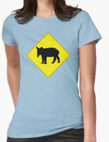 Tapir Crossing Womens Fitted T-Shirt