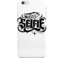 'Epic Selfie' Black Goth Grunge Tattoo Hand Lettering Calligraphy iPhone Case/Skin