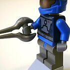 Halo Wars Blue Spartan Soldier Custom Minifigure iPod iPhone Case by 'Customize My Minifig'  by Chillee