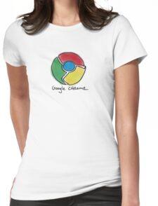 Google Chrome Internet Browser T Shirt Womens Fitted T-Shirt