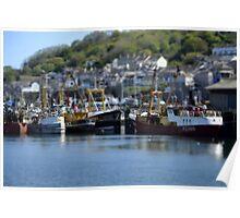 Newlyn fishing boats 2 Poster