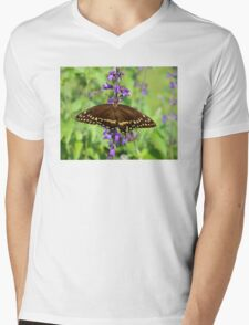 Miss Butterfly Brown Mens V-Neck T-Shirt
