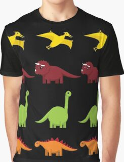 Cute Dinosaurs Graphic T-Shirt