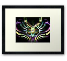 Electric Wings Framed Print